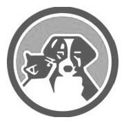grey logo cat and dog in Circle