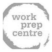 grey logo of Regina Work Prep Centre